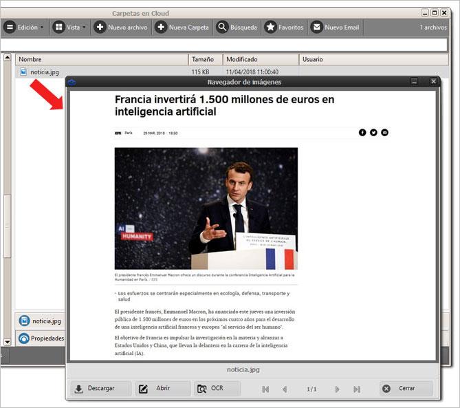 Abriendo ventana del navegador de imágenes