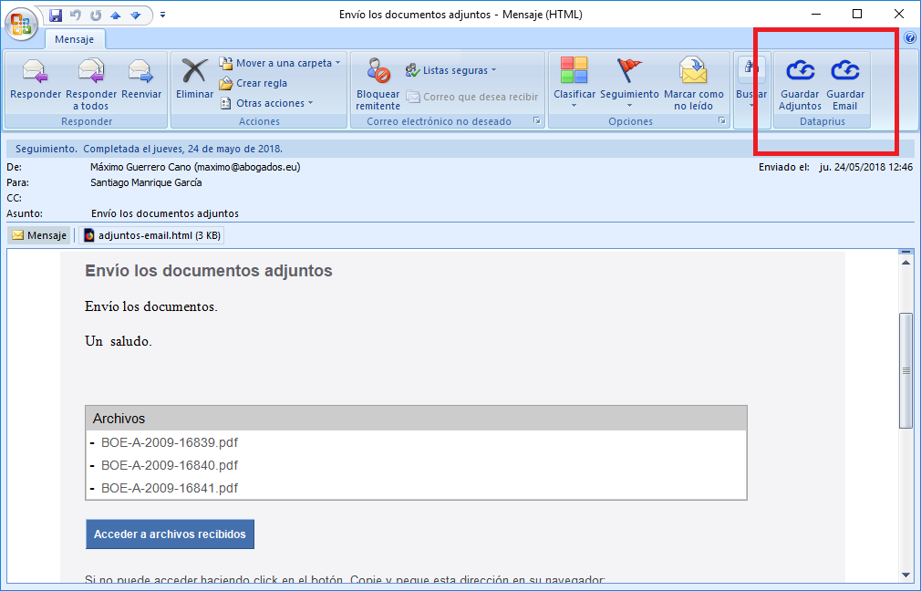 botones-dataprius-outlook-email-abierto