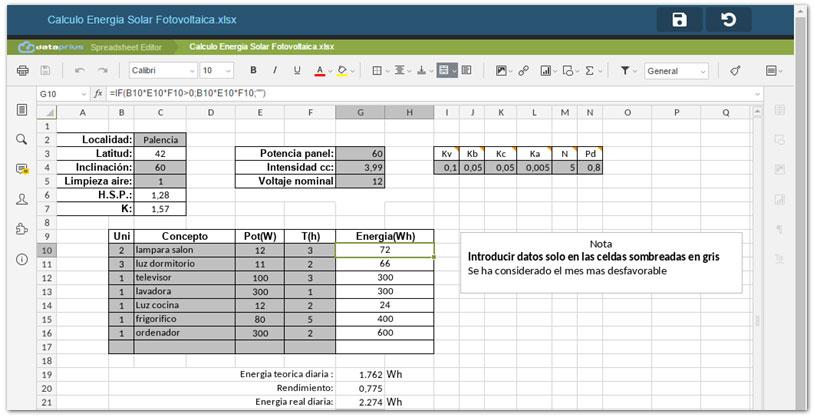 Editando Excel en pantalla grande