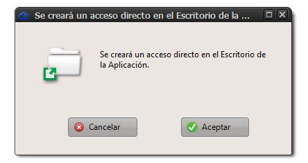 Confirmar crear acceso directo