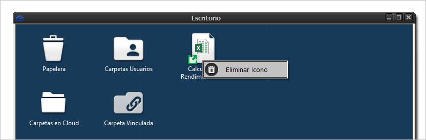 Eliminar icono de acceso directo