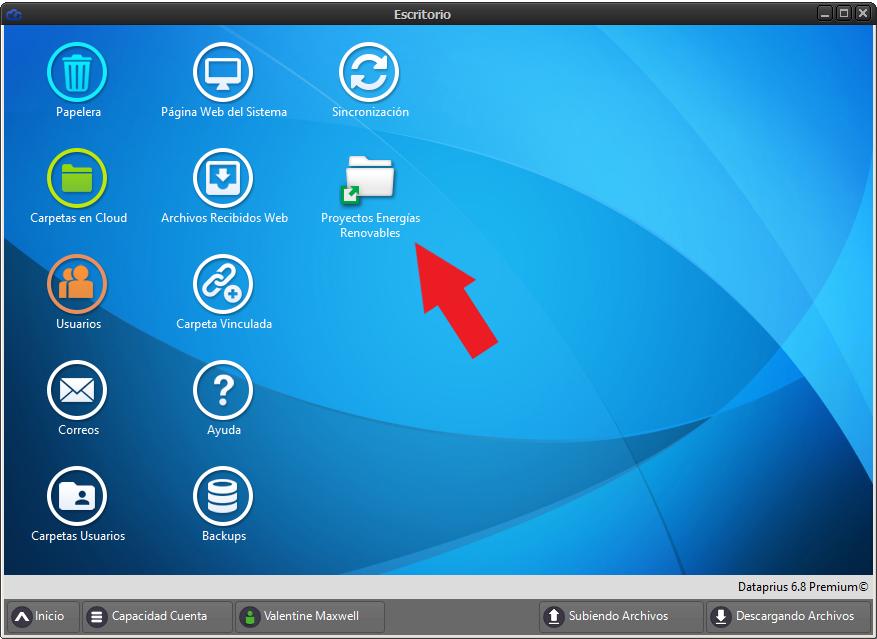 acceso directo a carpeta en el escritorio virtual dataprius