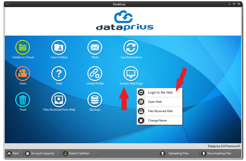 Access to the Dataprius web