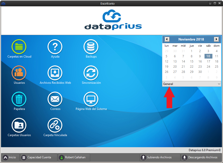 Acceso al calendario Dataprius